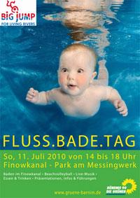 Einladung zum Flussbadetag am Finowkanal in Eberswalde