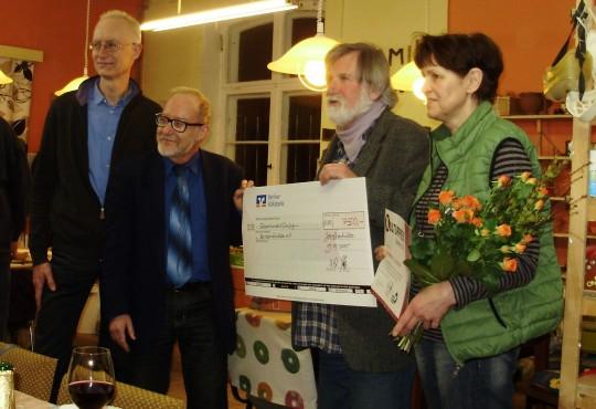 v.r.n.l.: Hartmut Lindner, Karl-Dietrich Laffin, Thorsten Kleinteich