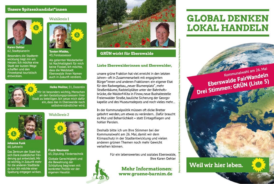 Wahl zur Stadtverordnetenversammlung in Eberswalde